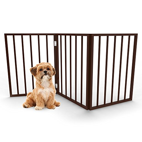 Foldable, Free-Standing Wooden Pet Gate- Light Weight, Indoor ...